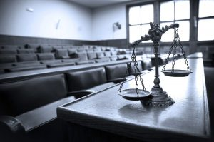 scales of justice signifying civil litigation